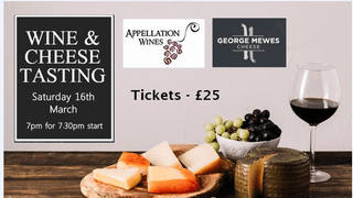 Grange Cheese and Wine Tasting - Saturday 16th March