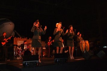 Andrews Sisters set in Pacific Aviation Museum Hanger at Pearl Harbour