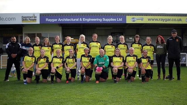 Belper Town Ladies beat Pride Park Ladies by the odd goal in five.