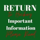 Return to Hockey - COVID 19 Update