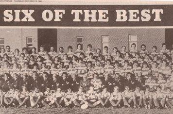 NOERFC - 6 Teams - Nuneaton Evening Tribune, 12th November 1981