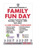 Centenary Family Fun Day/6 a side Tournament – Sunday 25 August