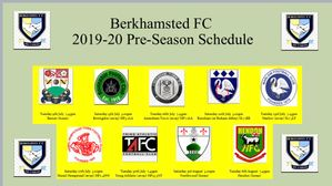 Berko Pre-Season Programme Confirmed