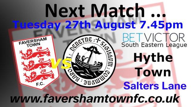 NEXT MATCH: Faversham Town vs. Hythe Town