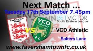 NEXT MATCH: Faversham Town vs. VCD Athletic