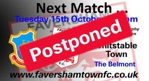 MATCH POSTPONED: Whitstable Town vs. Faversham Town