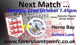 NEXT MATCH: Faversham are away to Cray Valley this Saturday