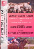 Ripples of Compassion Charity Rugby Match at Fareham Heathens -  20 July 2019 - 2pm