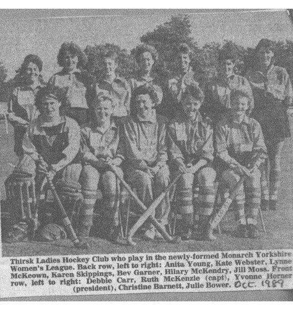 Ladies hockey team from October 1989