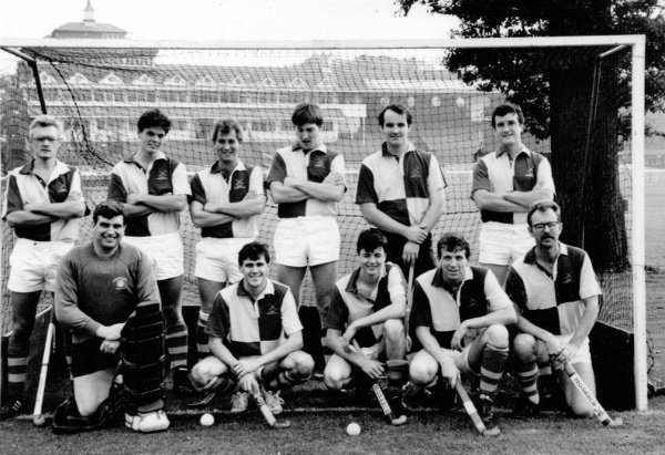 Men's first team 1990/91 season. Back: Billy Lorimer, Simon Rabjohns, Graham Stainthorpe (capt), Steve Wilson, Andy Wilkinson, Richard Taylor. Front: Richard Skippings, Richard Gell (vice captain), Scott Miles, Andy Young, Mike Rushmere.