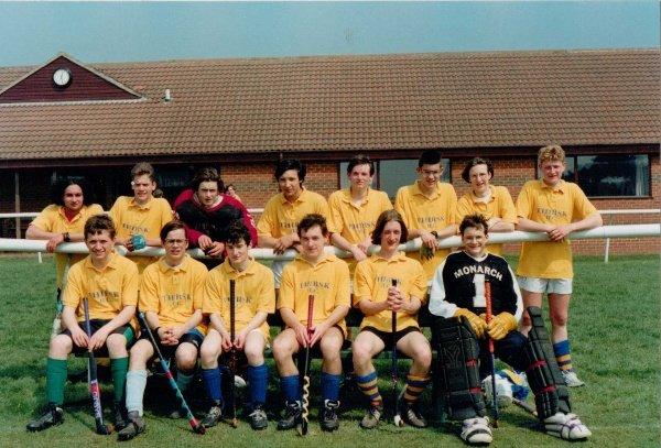 UNDER 16 BOYS 1995. Back Row: Jonathan Ryder, Andy Carney, Andy Loftus, James Peck, ?, Ed Rushmere, Jaime Livingston, Simon Gyte. Front Row: ?, ?, Andrew Potter, ?, ?, Philip Heath.