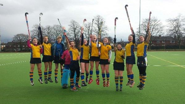 Ladies second team celebrate winning division 5 end of season 2013/14.