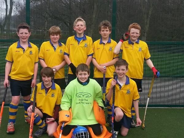 U12 Boys A Team comprising Tim Durkin, Ben Hall, Tom Hall (GK), Edward Hildreth, Henry Houseman, Archie Lawson, Flyn Mullins and Sam Nichol.