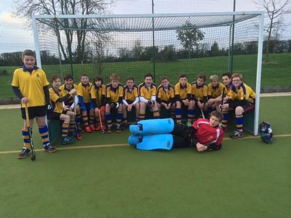 U14 Boys EHB Cup team: Left to right: Will, Alex, Michael, Guy, Sam, Jonathan, Hugo, Tom, George, Sean, James F., Paddy, James H., Ben (Capt) Front: Chris