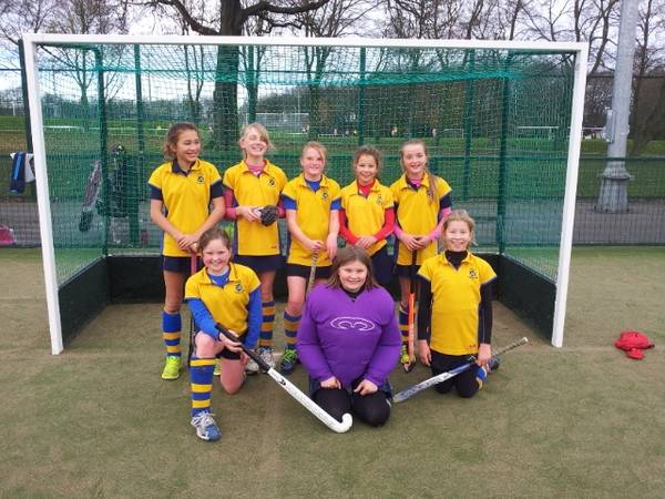 U12 girls A team:  From back left; Gabby Simpson, Penny Baker, Amy Flintoff, Olivia Borchard, Olivia Turner Front Row; Izzy Saxby, Olivia Barber, Connie Gill.