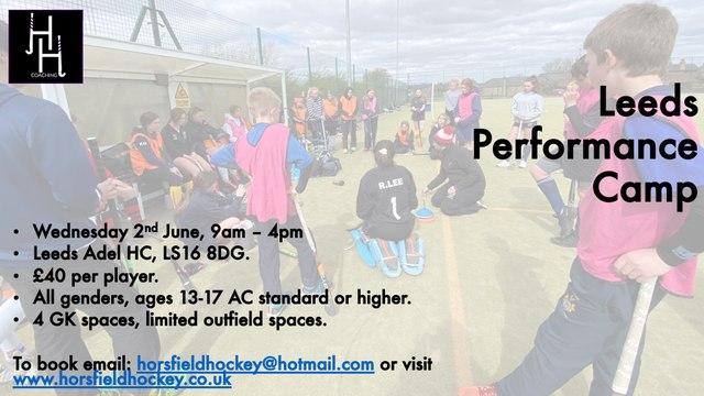 Horsfield Hockey - Performance Camp