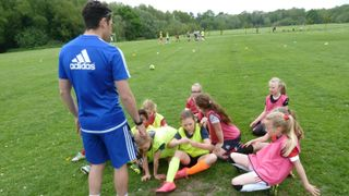 U9s Training with Tyler Mead from Chelsea FC