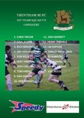 1st Team Squad announced to play Oswestry