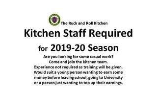 SWRFC - Kitchen Staff Required