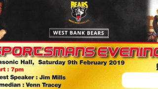 West Bank ARLFC - Sportsman's evening 2019