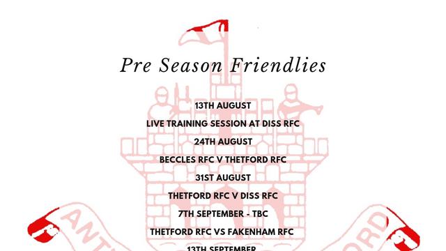 Pre Season Friendlies