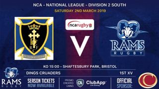 Rams teams in league action Saturday 2nd March 2019