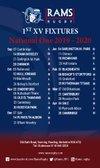 RAMS 1st XV NAT 1 Fixtures - GREAT Season Ticket Offer