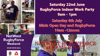 NATWEST RugbyForce and RAMS Minis Open Day