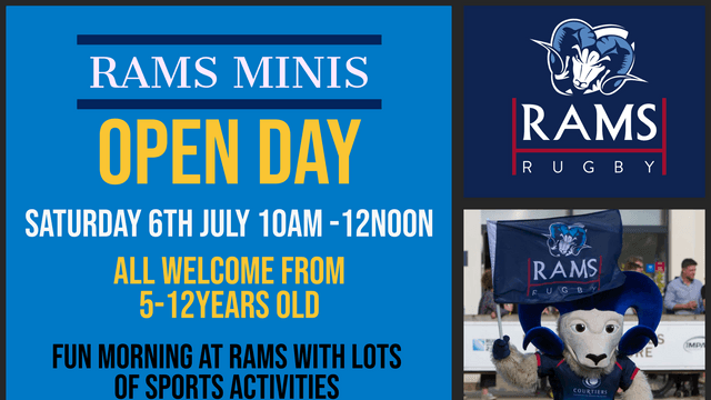 RAMS Minis Open Day - Saturday 6th July 10am - 12 noon