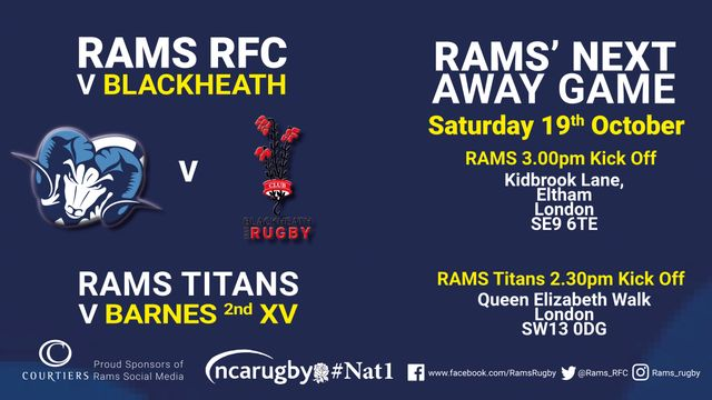 RAMS teams in action  19th and 20th October  2019