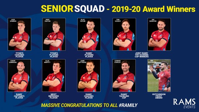 RAMS SENIOR SQUAD AWARDS 2019-20