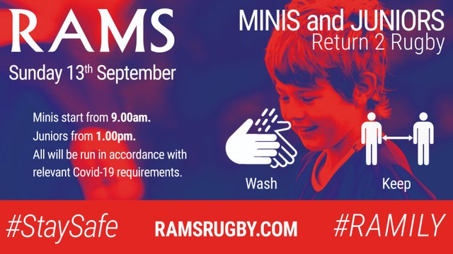 RAMS MINIS AND JUNIORS  RETURN 2 RUGBY