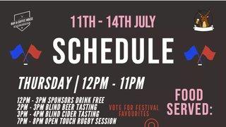 WRFC Beer Fest Schedule