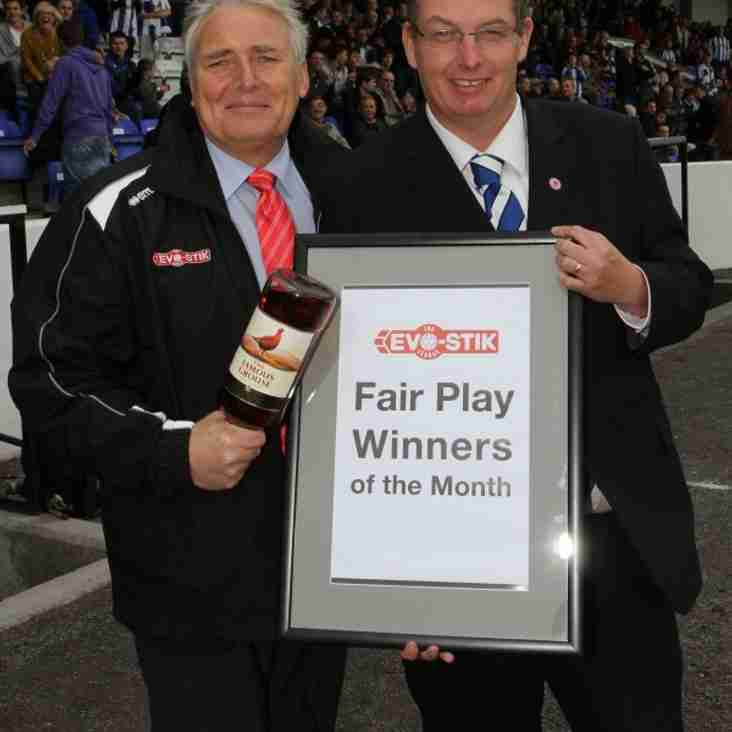 Premier Division Fair Play Winners - September