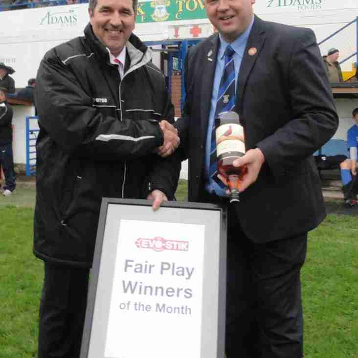 First South Fair Play Winners - September