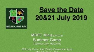 MRFC Minis Summer Camp - 21/21 July