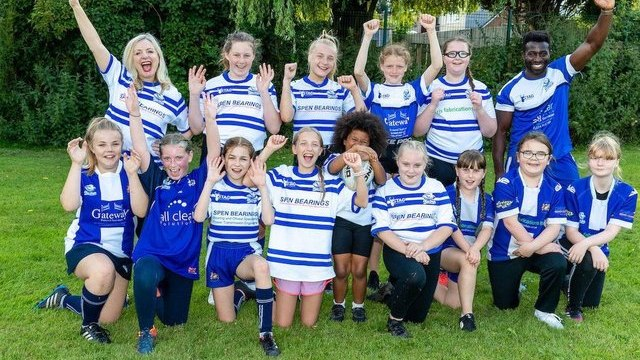 Mayor praises 'life-changing' launch of Birkenshaw girls' rugby teams