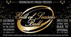 End of Season Ball - 18th May