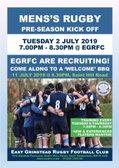 EGRFC  Senior Mens'Pre-Season Training