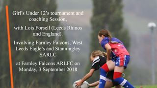 West Leeds Girls U12s at Farnley Falcons - Coaching tournament with Lois Forsell - 3 September 2018