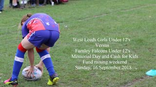 West Leeds Girls Vs Farnley Falcons Under 12's. 16 September 2018
