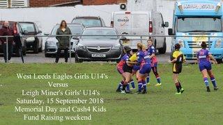 West Leeds Girls U14s Vs Leigh Miners - 15 September 2018