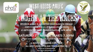 Don't Forget our special fund raising event at West Leeds ARLFC this Saturday