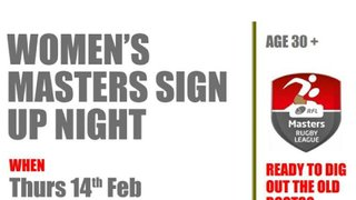 Why should the men have all the fun? Women's Master's Rugby League Sign Up evening at West Leeds on 14 February