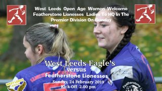 West Leeds Ladies welcome Featherstone Lionesses in league fixture on Sunday