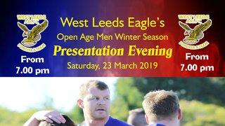 Sponsors invited for West Leeds Open Age Men winter season Presentation night