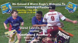 Boy's Under 13's welcome Castleford Panther's to HQ on Saturday