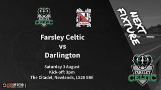 Matchday Information: Farsley Celtic vs Darlington (03/08/19)