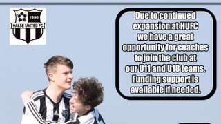 COACHING OPPORTUNITIES AT HUFC