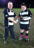 Zak gets the U13's Player of the Month Award